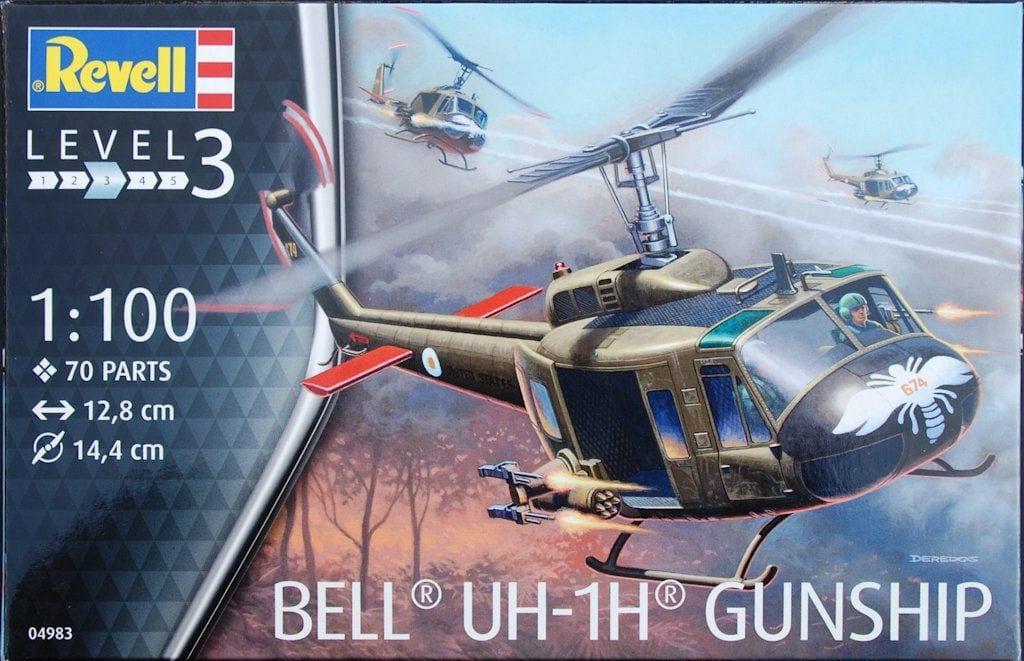 Revell #04983 1/100 UH-1H Bell Gunship