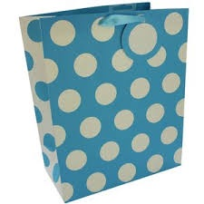 BLUE POLKA DOTS MEDIUM BAG