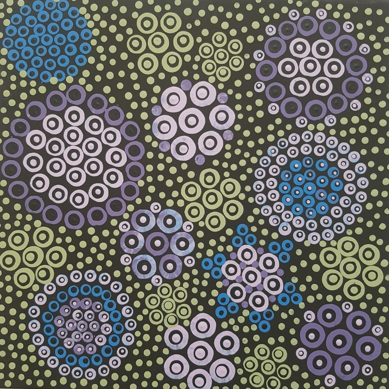3D dot painting: Daisies
