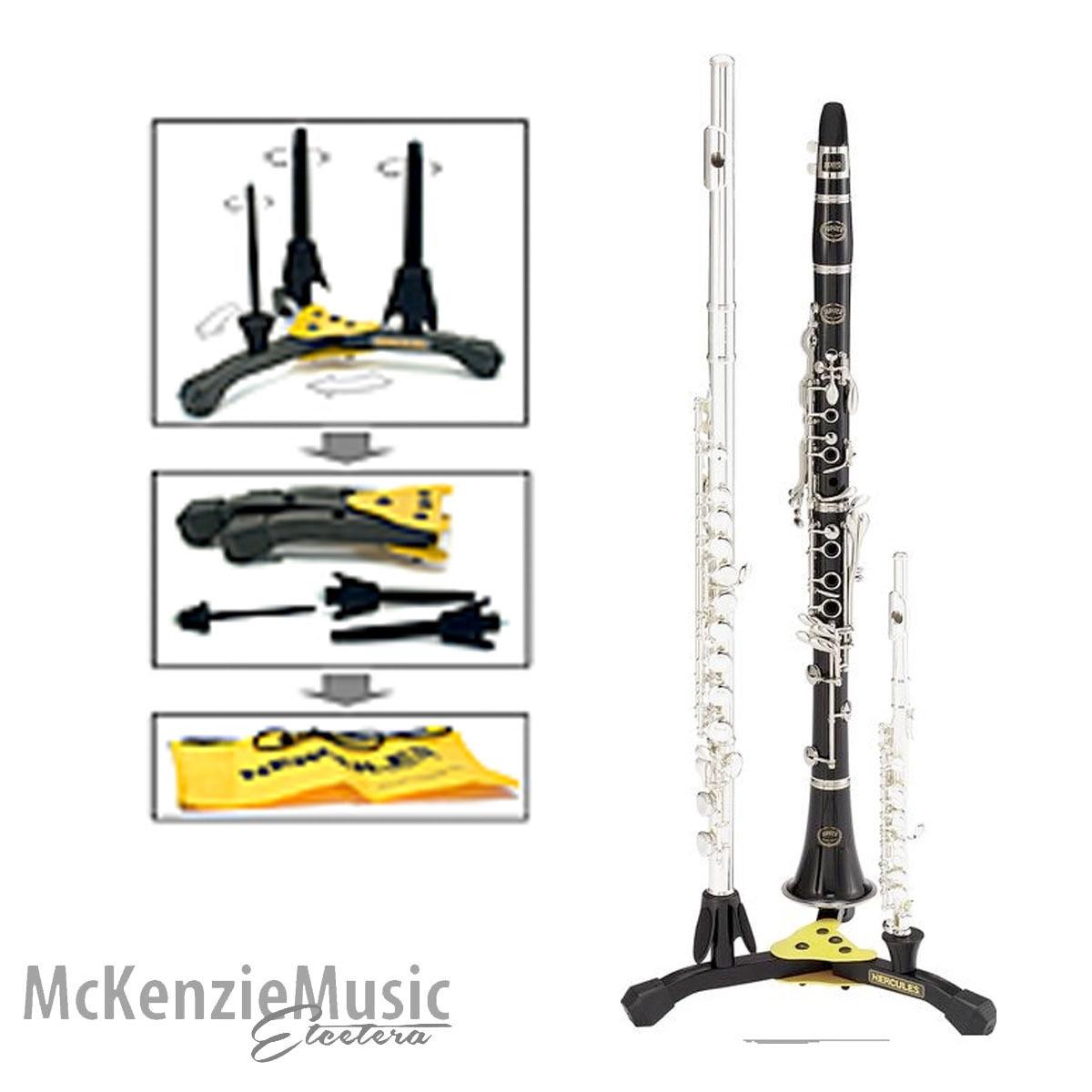 Hercules Clarinet, Flute & Piccolo Stand
