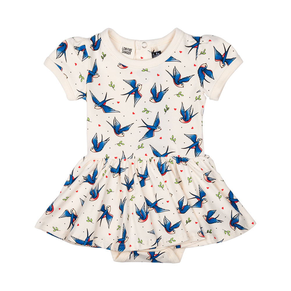 RYB Blue Birds Baby Waisted Dress