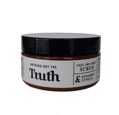 240gm Bergamot and Cypress Face and Body Scrub - Truth Cosmetics
