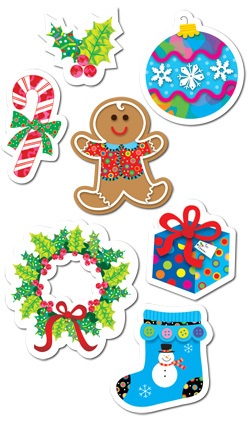 CTP 4129 WINTER HOLIDAY STICKERS