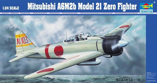 Trumpeter #02405 1/24 Mitsubishi A6M2b Model 21 Zero Fighter