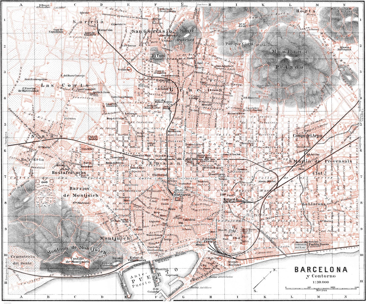 Barcelona Map | Print Only