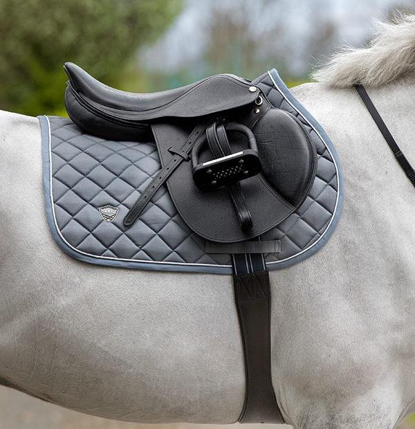 Horseware Rambo Charcoal with China Blue Saddle Pad