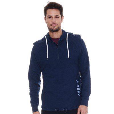 mens capped shoulder hoodie