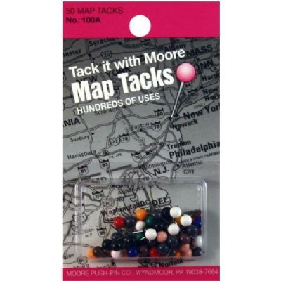 SWI 100A MAP TACKS 50PK