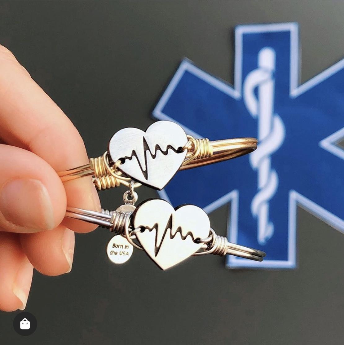 Life Saver/First Responder Bracelet in Silver