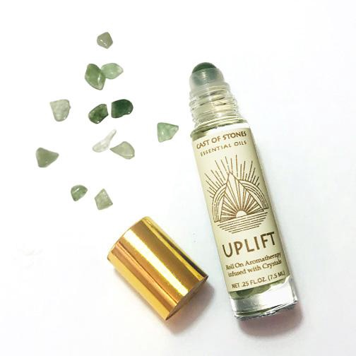 Uplift Essential Oil Blend with Green Aventurine