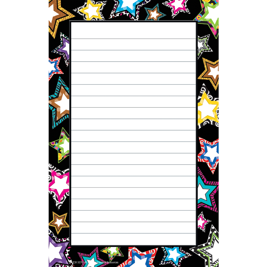 TCR 5270 STARS 50 SHEET NOTEPAD