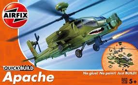 Airfix #J6004 Quick Build Apache Helicopter