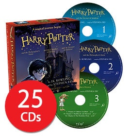 HARRY POTTER BOOKS 1-3 AUDIO BOOKS 25CDS