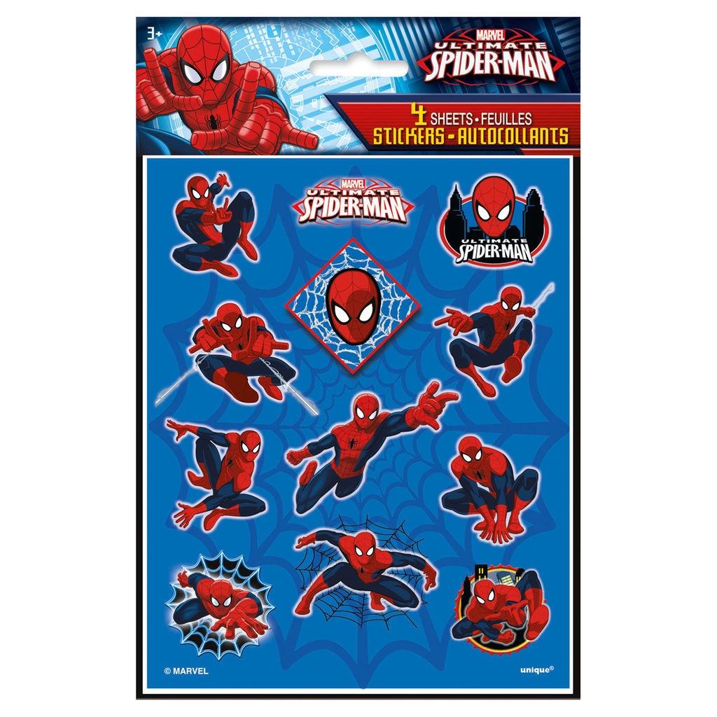 SPIDER-MAN 3 COLUMN STICKER SHEETS