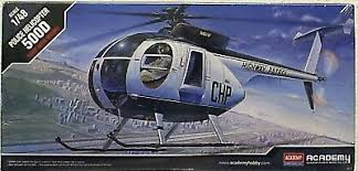 Academy #12249 1/48 Police Helicopter 500D