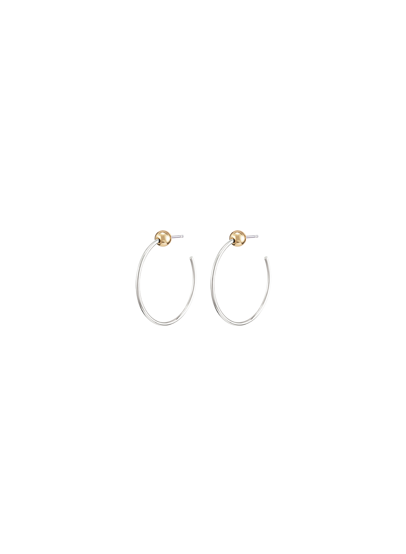 JENNY BIRD - ICON HOOPS XS IN TWO TONE