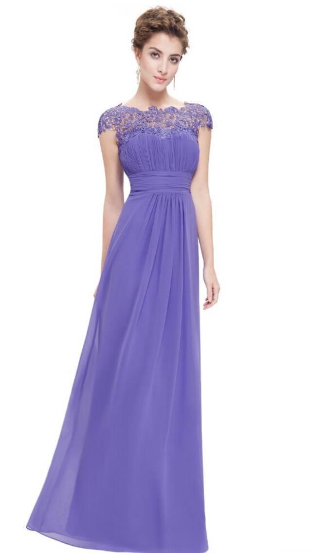 Lavender lace bridesmaids dresses