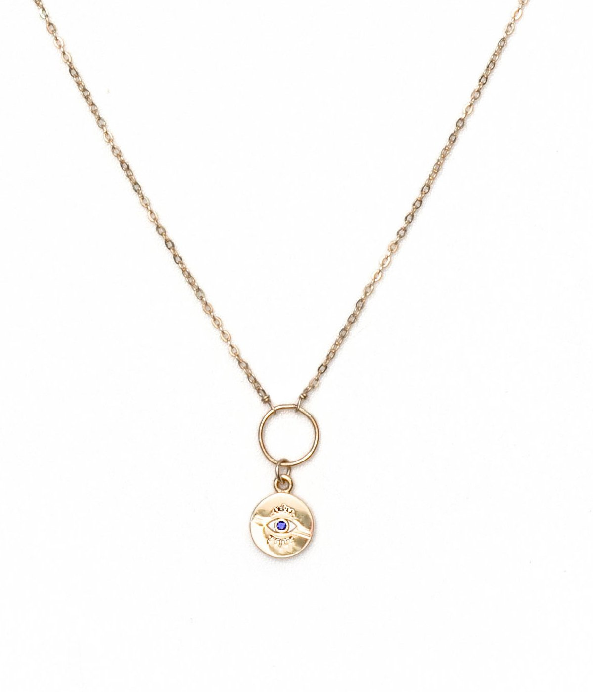 Eye On You Necklace - Gold