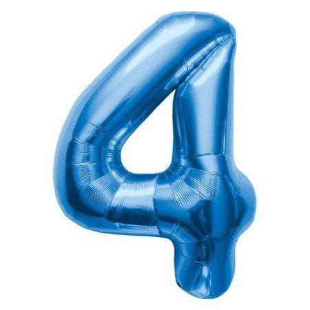 NUMBER 4 BLUE 34''