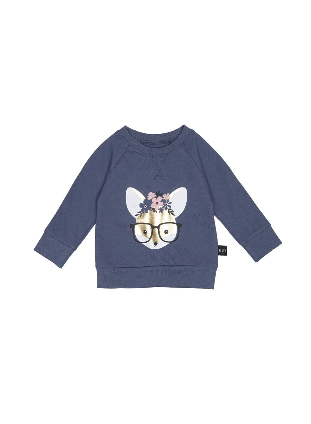 FLOWER FOX SWEATSHIRT