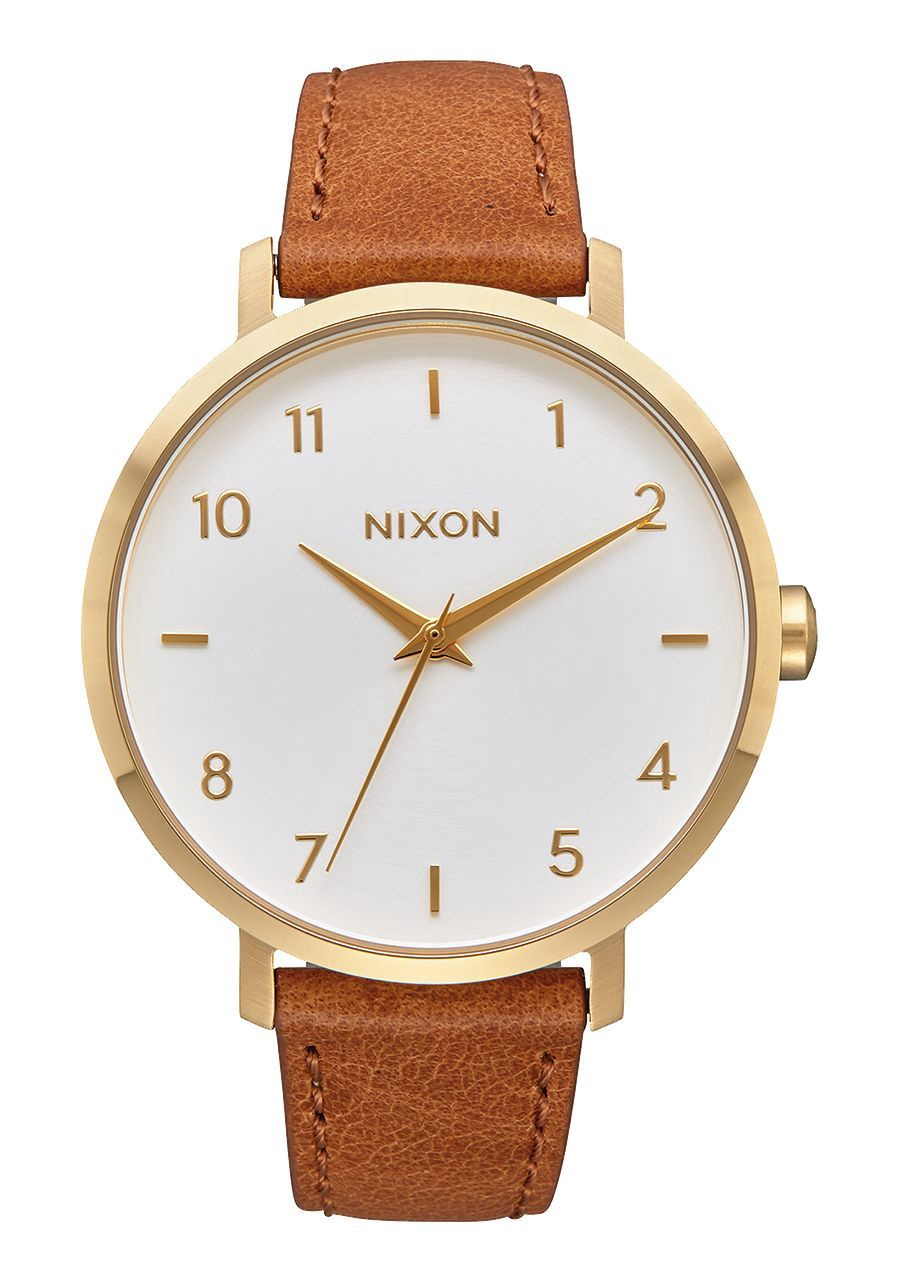 NIXON -ARROW LEATHER IN GOLD/WHITE/SADDLE A1091 2621-00