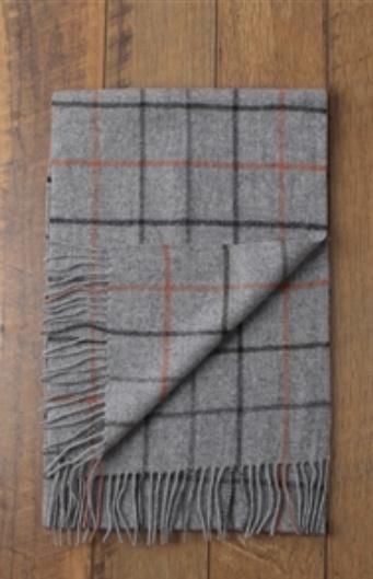 Karl Pure Wool Check Scarf