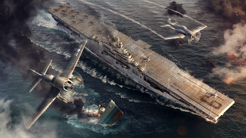 Italeri #46503 World Of Warships-1/700 USS Essex