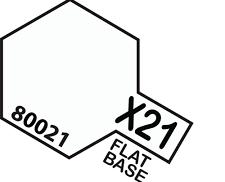 Tamiya Enamel Paint #8021 #X-21 Flat Base