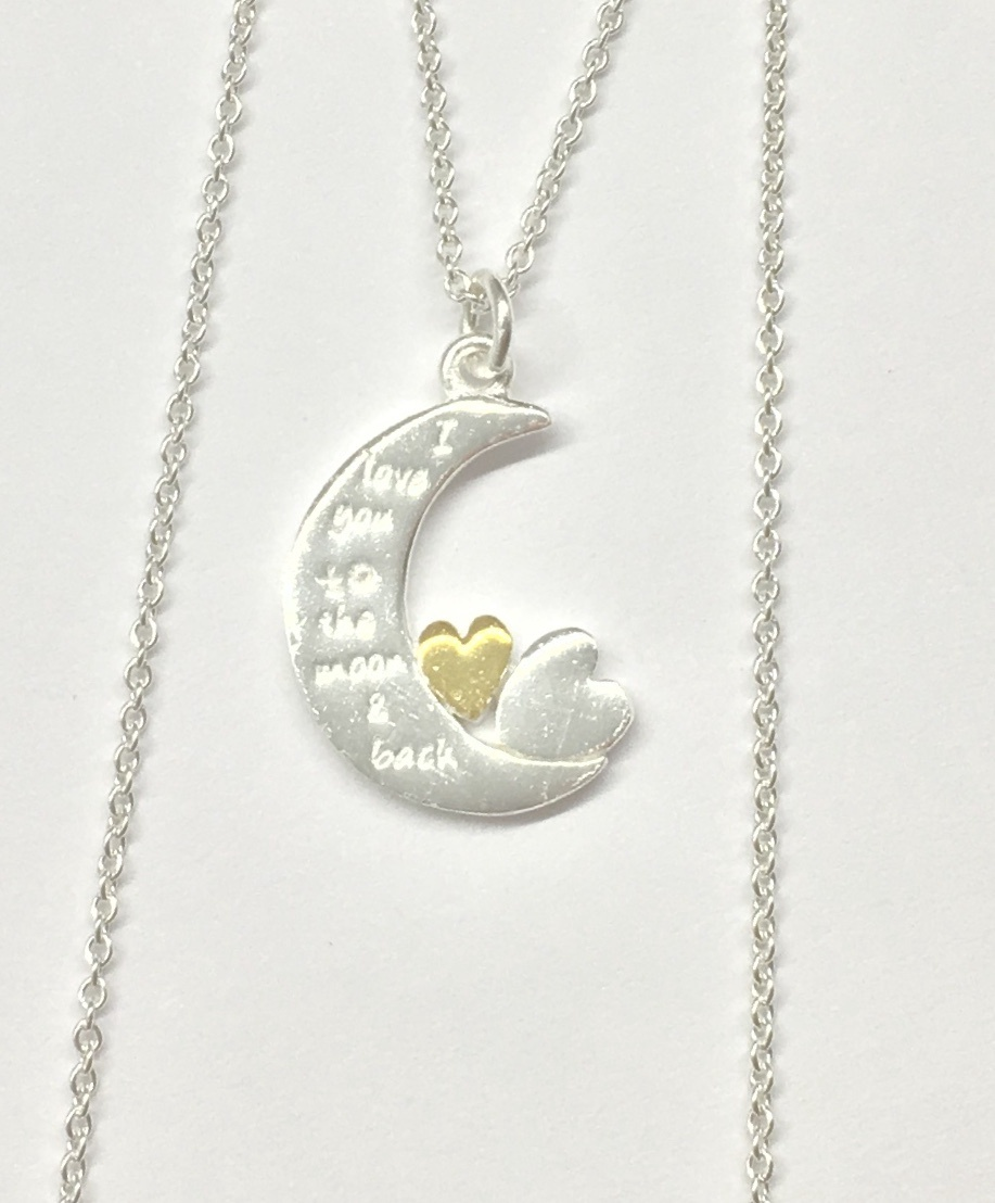 Annabella Moore- Moon & Hearts Necklace
