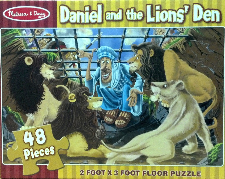 MD 4496 DANIEL & TH LIONS DEN FLOOR PUZZLE