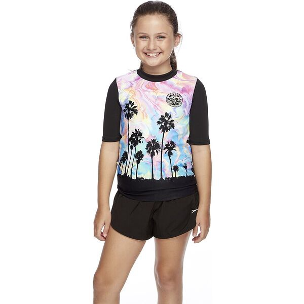 Girls Short Sleeve Rashie Sunset Blvd