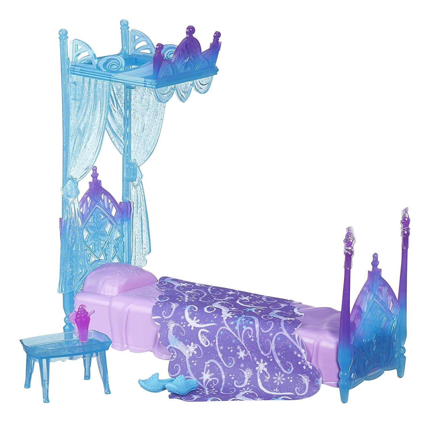 FROZEN ICICLE CANOPY BED