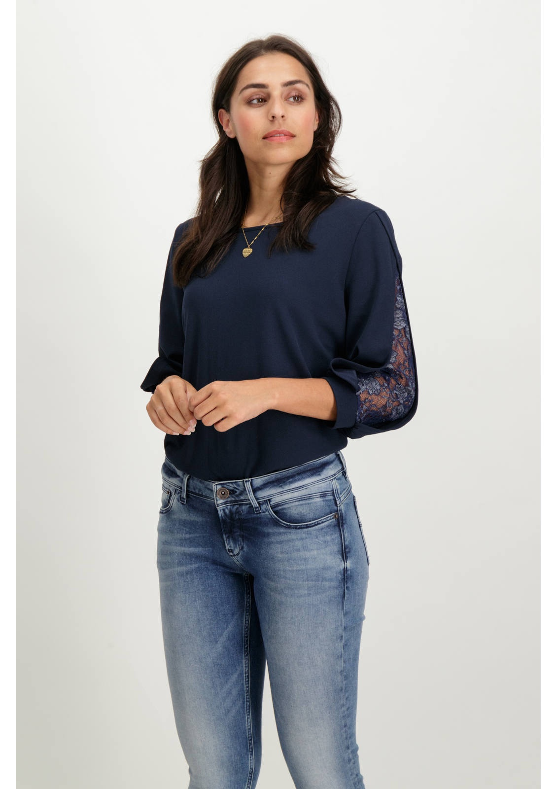 Garcia Panel Sleeve Top S80015