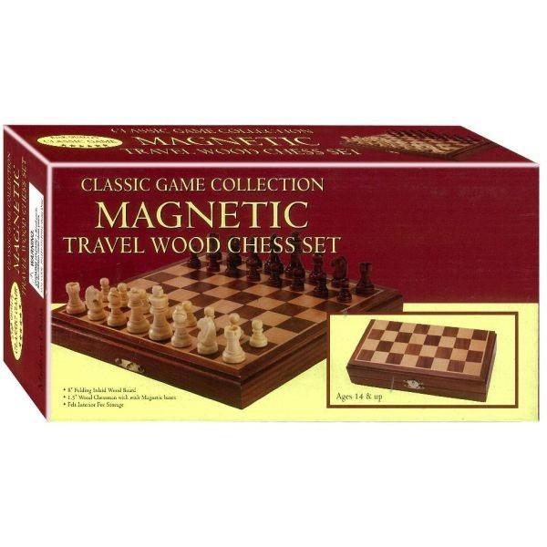 MAGNETIC TRAVEL WOOD CHESS SET