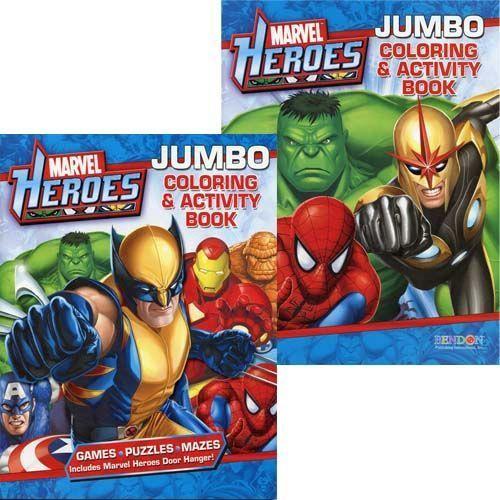 MARVEL HEROES JUMBO COLORING