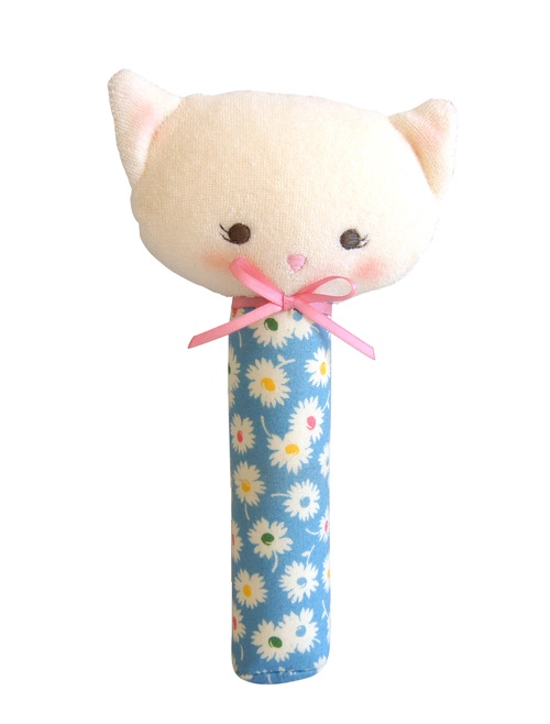 Alimrose Kitty Squeaker 19cm - Blue Floral
