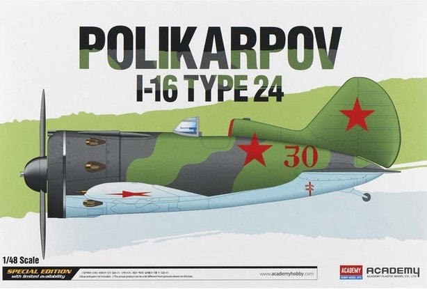 Academy #12314 1/48 Polikarpov 1-6 Type 24