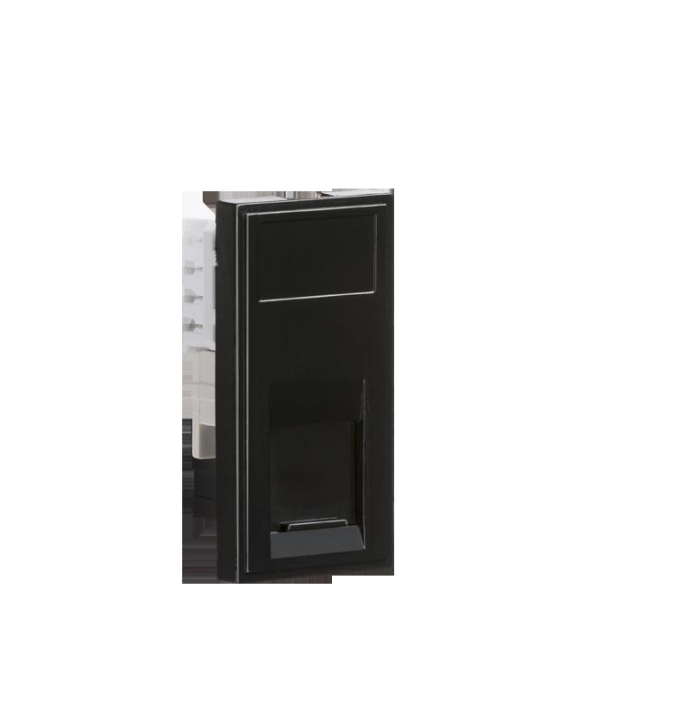 Black Modular UTP CAT5E RJ45 Outlet