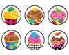 T 46189 CUPCAKES BAKESHOP SPOTS STICKERS