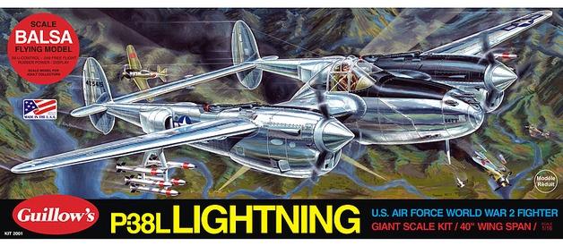 Guillow's #2001 1/16 P-38 Lighting