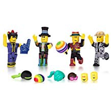 ROBLOX DISCO MADNESS MIX & MATCH 4 FIGURE SET