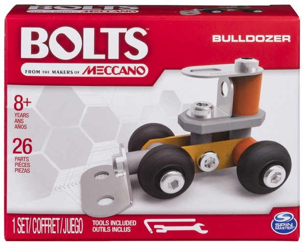 Meccano #M7362 Bolts Mini Vehicles  (Bulldozer)