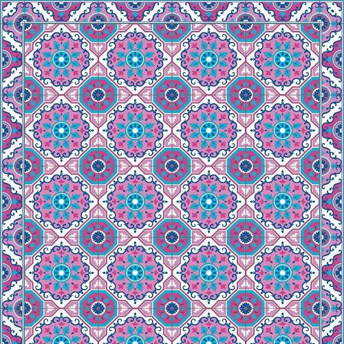 Flake Rug | Pink