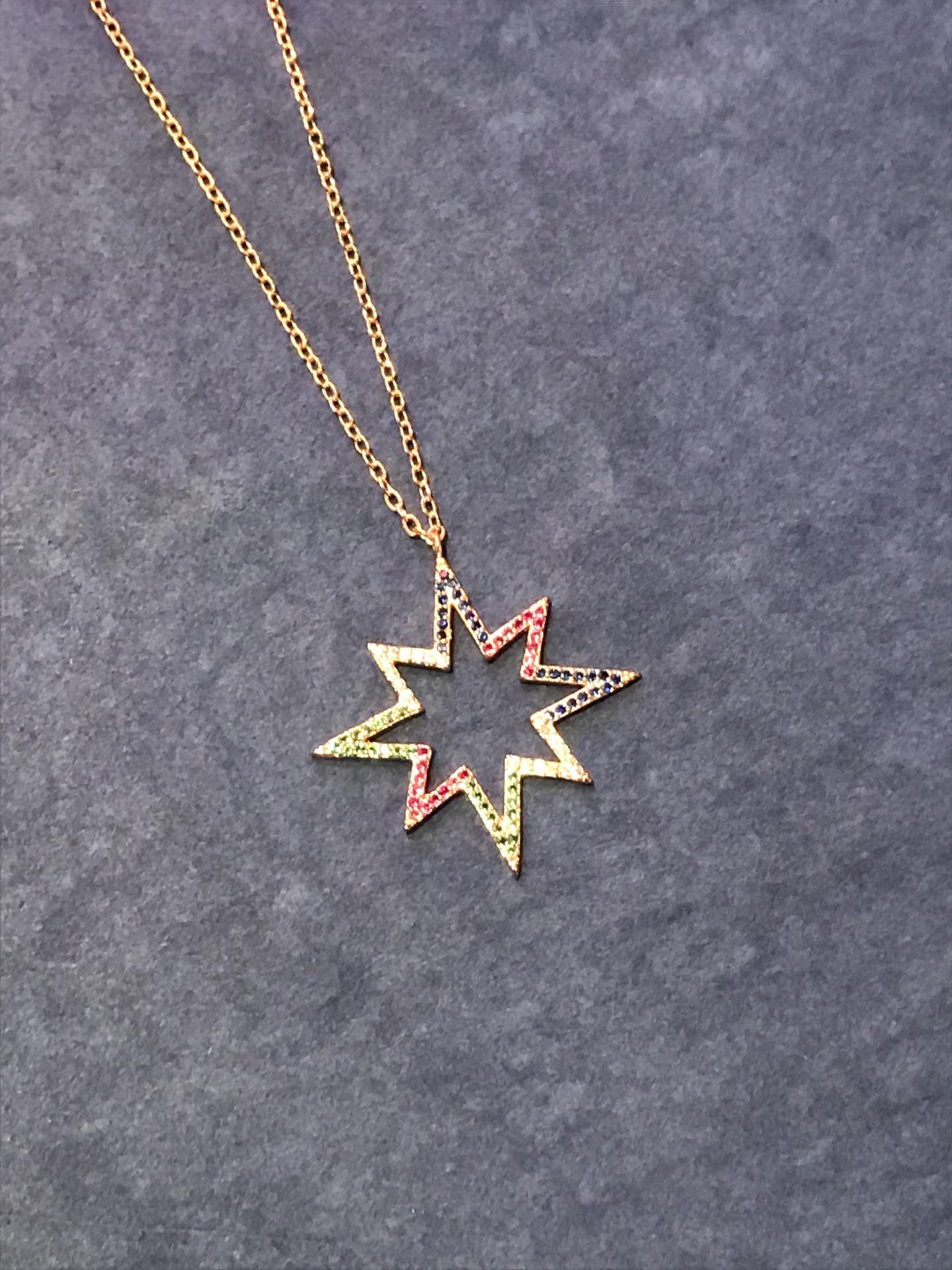 Multi Colours Star Necklace