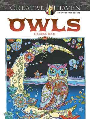 X SL 024796647 CREATIVE HAVEN OWLS COLORING BOOK