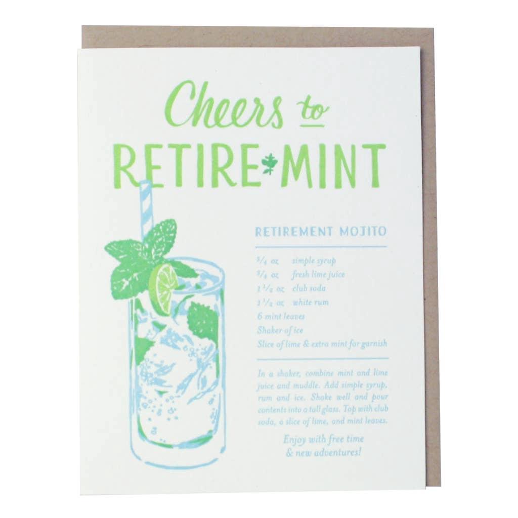 Mojito Recipe Retirement Card