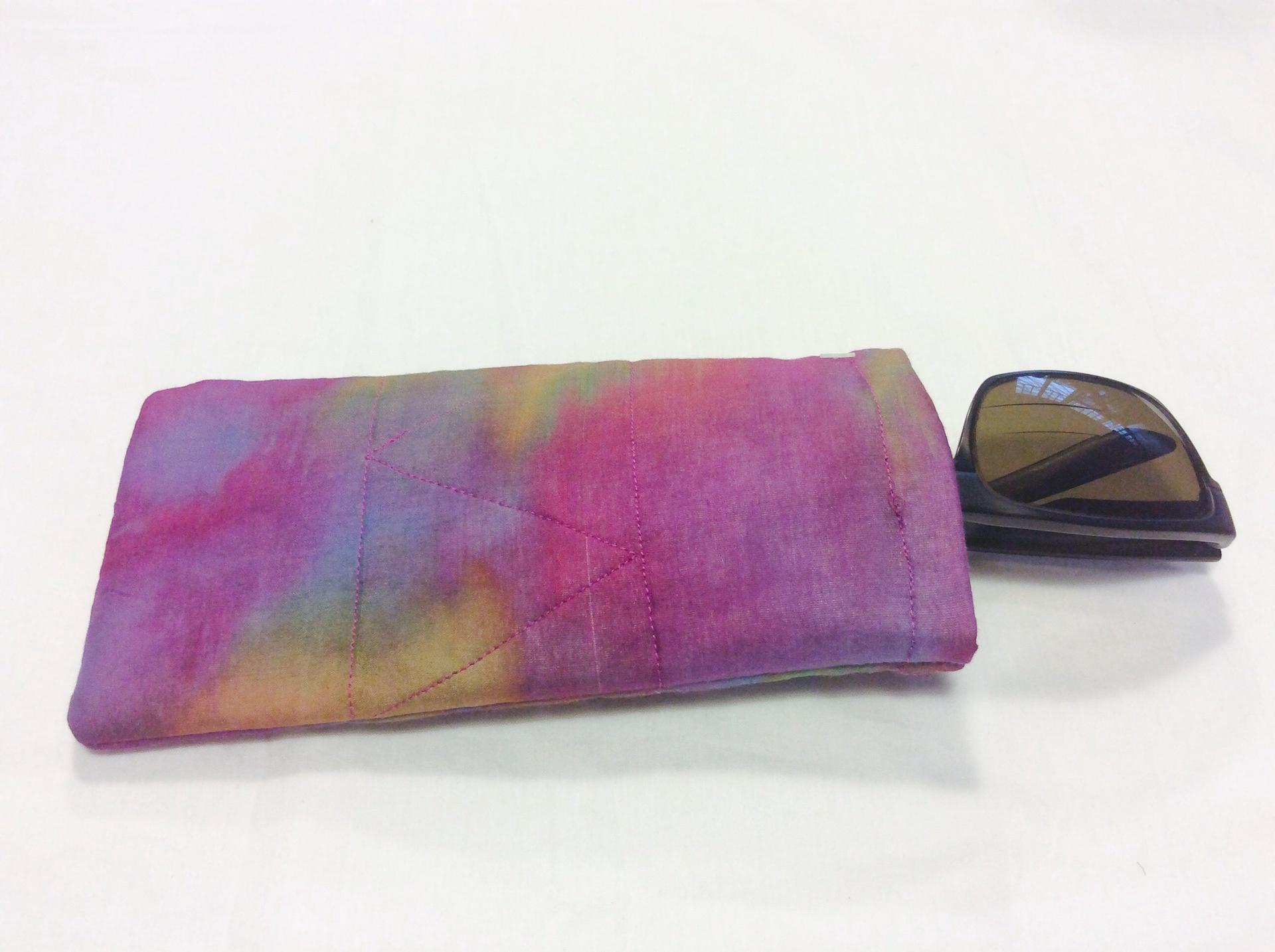 Silk and cotton glasses case