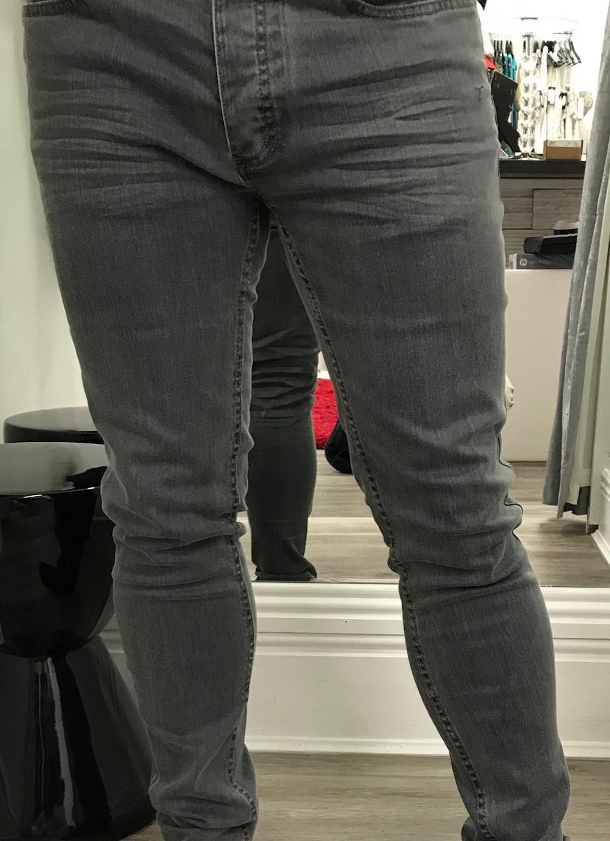 Menswear Grey Wash Jeans