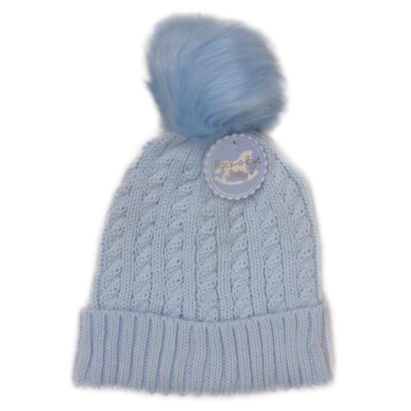 Baby Boys Cable Knit Pom-Pom Hat (6-24 Months)