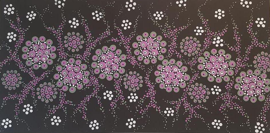 3D dot painting: Purple Blooms